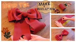 burlap ribbon bow how to make a burlap bow