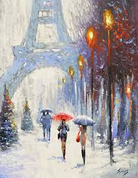 parisian landscape palette knife oil painting on canvas by dmitry spiros size 24x32