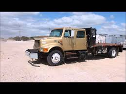 2001 international 4700 crew cab flatbed truck for sale sold at