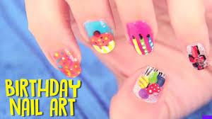 birthday nail art designs tutorials crazy funny birthdays