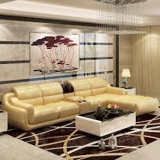 Leather Sofa Beige Bonded Leather Sofa Set Livingroom Furniture Nofran Electronics