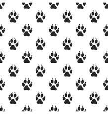 wolf paw print vector images 160