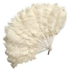 ostrich feather fans white opera fan