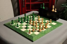 Chess Board Design The Grandmaster Chess Set And Board Combination Green Gilded