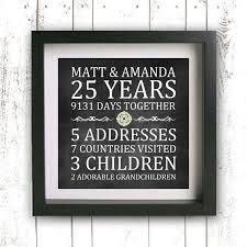 25th wedding anniversary gift ideas gift ideas for 25th wedding anniversary componentkablo