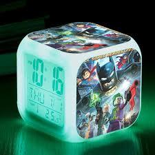 lego movie justice league vs led clock the lego movie dc comics super heroes justice league vs