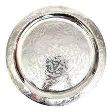 engraved silver platter engraved silver tray with atlas cedar wood base chairish