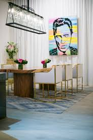modern dining room with art deco touches featuring quick u2022step u0027s