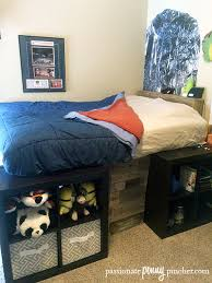 Diy Platform Bed Base by Diy Platform Storage Bed On A Budget Passionate Penny Pincher