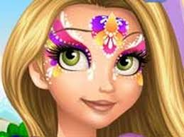 rapunzel face painting game girls