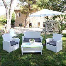 canapé jardin résine salon de jardin résine tressée ibiza blanc eminza achat de