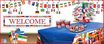 Olympic Games Decorations International Flags Olympics Party Supplies International