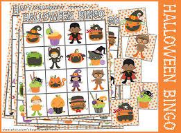 halloween bingo game printable preschool and kindergarten