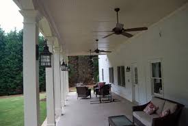 Covered Porch Ceiling Material by Porch And Deck Combo With Fireplace And Patio In Johns Creek