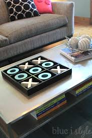 Kid Friendly Coffee Table Seasonal Style Pumpkin Tic Tac Toe Blue I Style Creating An