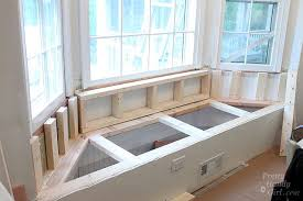 kitchen bay window seating ideas building a window seat with storage in a bay window pretty handy