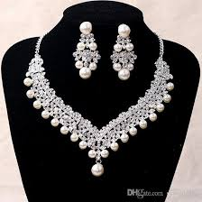 earring necklace sets cheap images 2017 luxury bridal accessories pearl crystal necklace earring jpg