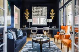 navy and orange living rooms design ideas