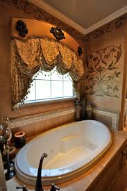 this master bath was transformed with this window treatment and
