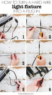 how to turn a hard wire light fixture into a plug in light