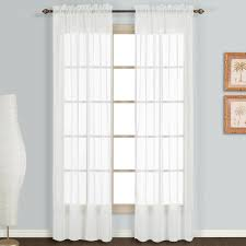 Kitchen Window Curtain Panels by Amazon Com United Curtain Monte Carlo Sheer Window Curtain Panel