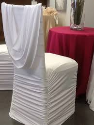 spandex chair covers rental white ruched spandex chair cover with attached sash 4 00 luxe