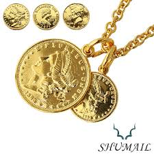 double gold pendant necklace images Silveraccessorybinich rakuten global market double gold coin jpg