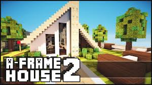 a frame house minecraft small a frame house 2 youtube
