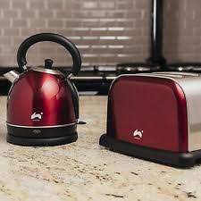 Toaster And Kettle Set Red Kettle And Toaster Set Ebay