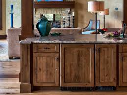 rustic kitchen cabinets elegant knotty hickory cabinets we like
