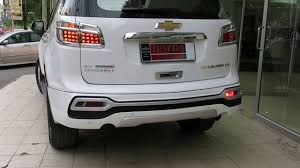 chevrolet trailblazer white chevrolet trailblazer skirt body kit u0026 led drl dubai style youtube
