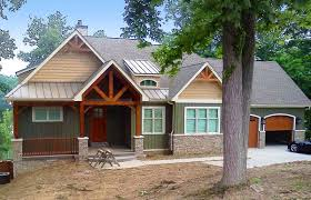 rugged craftsman home for a sloping lot 17650lv architectural