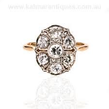gold and platinum art deco diamond ring