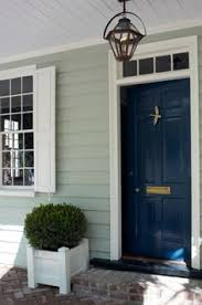 Navy Blue Front Door Our Exterior House Paint Colors Winchester Behr And Mermaid
