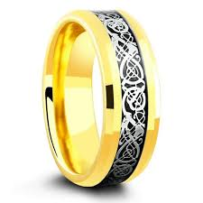 celtic ring 18k yellow gold celtic ring crafted out of tungsten carbide