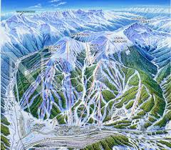 Colorado Mountains Map by Copper Mountain Colorado James Niehues Map Artist Ski Maps