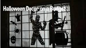 halloween decor on a budget diy silhouettes youtube