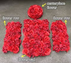 Red Rose Table Centerpieces by 2017 New Artificial Flower Wall Row Table Centerpiece Flower Red
