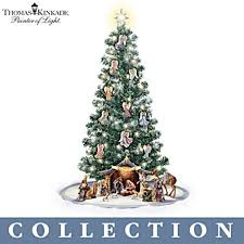 kinkade blessed nativity tree collection
