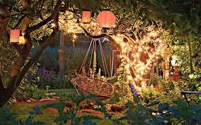 winter decor the best garden lights