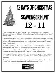 2015 scavenger hunt united way of indiana county