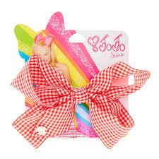 back to school hair bows jojo siwa gingham print back to school hair bow s