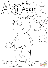 letter a is for adam coloring page free printable coloring pages