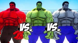 hulk red hulk grey hulk epic battle