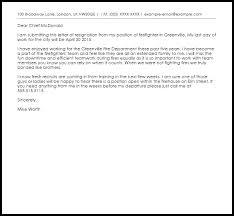 firefighter resignation letter resignation letters livecareer