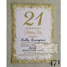 gold glitter confetti pink 21st birthday invitation design 471