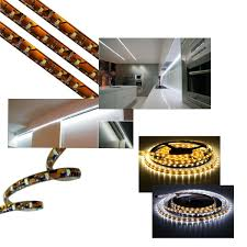 under cabinet lighting strips 1m led under cabinet strip light warm or cool white 12v dc with