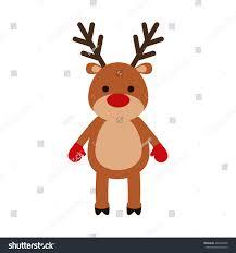 reindeer deer merry celebration stock vector