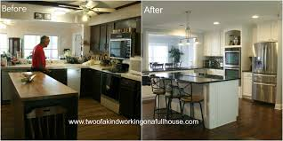 simple before and after kitchen renovations home design new