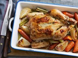 alton brown whole chicken roasted chicken with lemon garlic and thyme recipes cooking